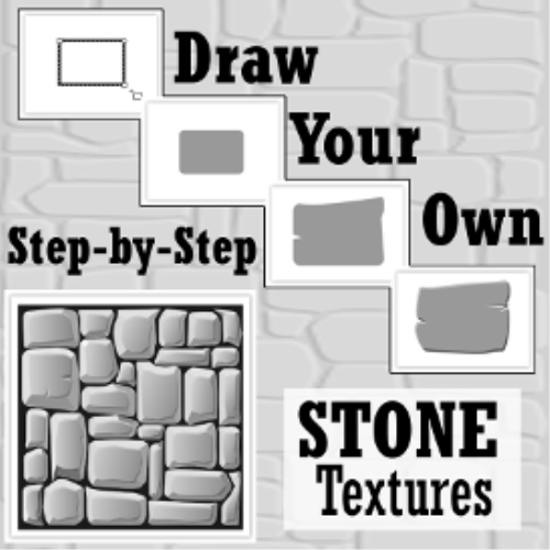 First Additional product image for - Draw Your Own: STONE TEXTURES