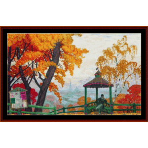 Autumn, 1915 - Kustodiev cross stitch pattern by Cross Stitch Collectibles | Crafting | Cross-Stitch | Wall Hangings