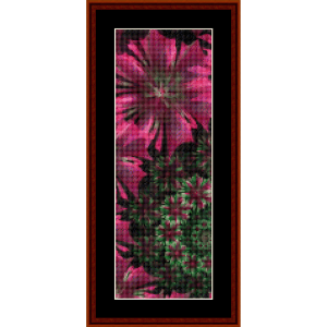 fractal 581 bookmark cross stitch pattern by cross stitch collectibles