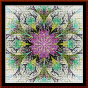 Fractal 580 cross stitch pattern by Cross Stitch Collectibles | Crafting | Cross-Stitch | Wall Hangings