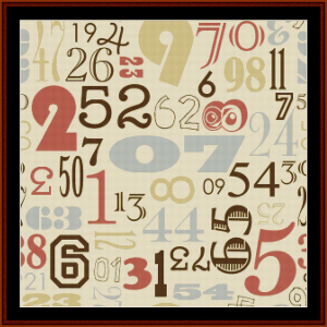 vintage numbers ii cross stitch pattern by cross ?stitch collectibles