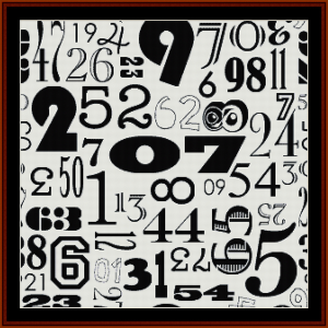 vintage numbers iii cross stitch pattern by cross stitch collectibles