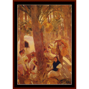 The Elche Palm Grove, 1918 - Sorolla cross stitch pattern by Cross Stitch Collectibles   Crafting   Cross-Stitch   Wall Hangings