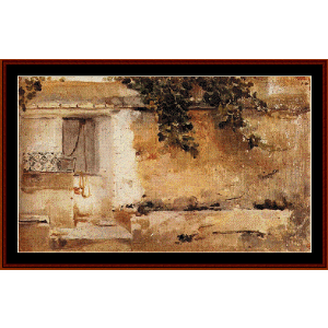 Farmhouse in Valencia - Sorolla cross stitch pattern by Cross Stitch Collectibles | Crafting | Cross-Stitch | Wall Hangings