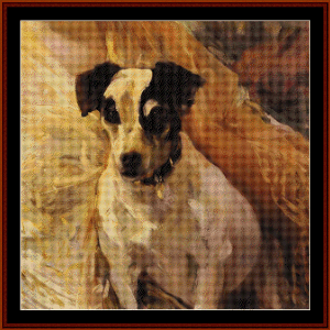 Jack Russell, 1909 - Sorolla cross stitch pattern by Cross Stitch Collectibles | Crafting | Cross-Stitch | Wall Hangings