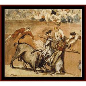 Bullfight - Manet cross stitch pattern by Cross Stitch Collectibles | Crafting | Cross-Stitch | Wall Hangings