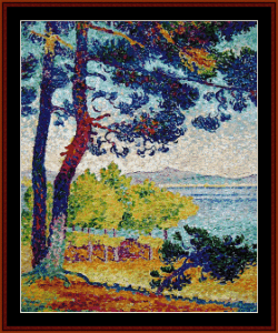 afternoon in pardigon - signac cross stitch pattern by cross stitch collectibles