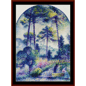 garden in provence - signac cross stitch pattern by cross stitch collectibles