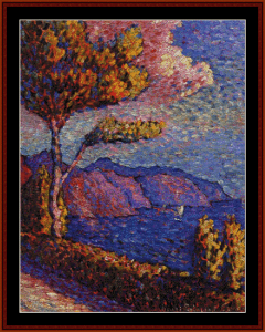 canal near st. tropez - signac cross stitch pattern by cross stitch collectibles