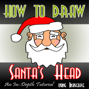 how to draw santa's head