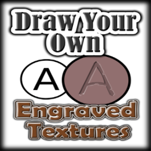 draw your own: engraved textures