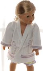 DollKnittingPattern 0156D SOPHIA (September) - Nightgown, dressing-gown, slippers and Baby-doll-(English) | Crafting | Knitting | Other