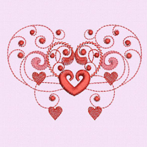 Laura's Burning Hearts Collection DST | Crafting | Embroidery