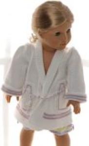 DollKnittingPatterns 0156D SOPHIA - Chemise de nuit, robe de chambre, chaussons et nuisette-(Francais) | Crafting | Knitting | Other