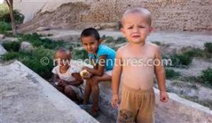 kids from khiva, uzbekistan