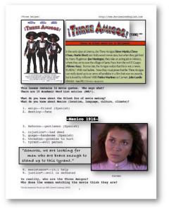 three amigos, whole-movie english (esl) lesson