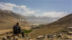 on the top of pamir mountain, tajikistan