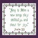 Sing To Him | Crafting | Cross-Stitch | Religious