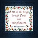 Strengthens Me | Crafting | Cross-Stitch | Religious