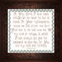 My Rock and Fortress | Crafting | Cross-Stitch | Religious