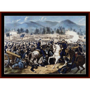 battle of gettysburg - american history cross stitch pattern by cross stitch collectibles