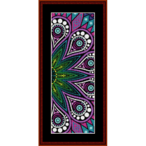 fractal 587 bookmark cross stitch pattern by cross stitch collectibles