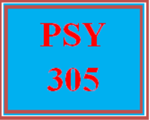 psy 305 week 3 personal career goal paper