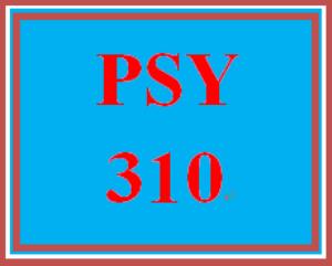 PSY 310 Week 3 Personal Goal Paper | eBooks | Education