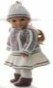 DollKnittingPatterns 0157D SOPHIA - Genser, skjørt, strømpebukse, lue og sokker-(Norsk) | Crafting | Knitting | Other