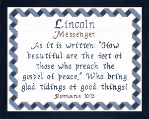 Name Blessings  - Lincoln | Crafting | Cross-Stitch | Other
