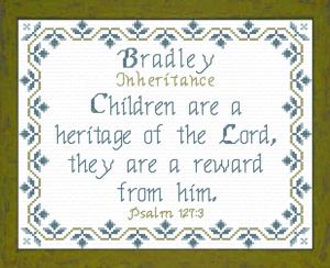 name blessings - bradley