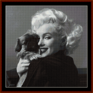 marilyn and friend - celebrity cross stitch pattern by cross stitch collectibles