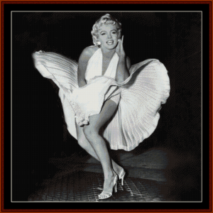 marilyn's skirt - celebrity cross stitch pattern by cross stitch collectibles