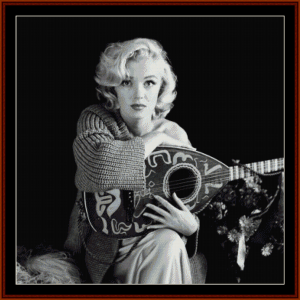 musical marilyn - celebrity cross stitch pattern by cross stitch collectibles