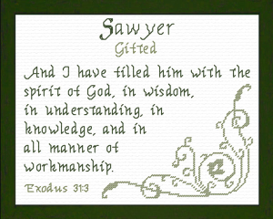 Name Blessings - Sawyer | Crafting | Cross-Stitch | Other
