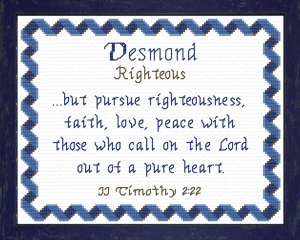Name Blessings - Desmond | Crafting | Cross-Stitch | Other