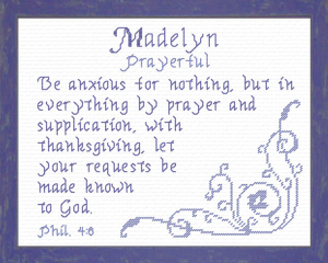 Name Blessings - Madelyn 5 | Crafting | Cross-Stitch | Other