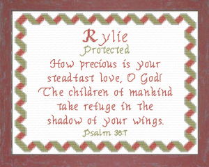Name Blessings - Rylie | Crafting | Cross-Stitch | Other
