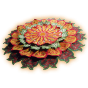 Laura's Mandala - Free-Standing Applique JEF   Crafting   Embroidery