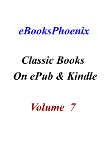 ebooksphoenix classic books on epub and kindle  vol 7
