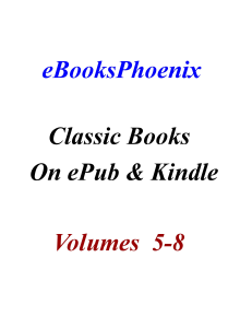 eBooksPhoenix Classic Books On ePub And Kindle  Vol 5-8 | eBooks | Classics