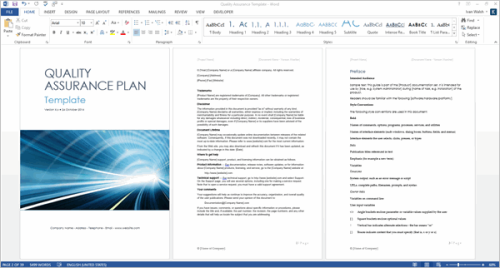First Additional product image for - Quality Assurance Plan Template (MS Word + 7 Excels)