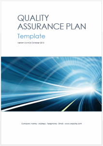 quality assurance plan template (ms word + 7 excels)