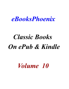 ebooksphoenix classic books on epub and kindle  vol 10