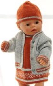 DollKnittingPatterns 0158D LERKE - Høstkjole, Jakke, Bukse, Lue og sokker-(Norsk) | Crafting | Knitting | Other