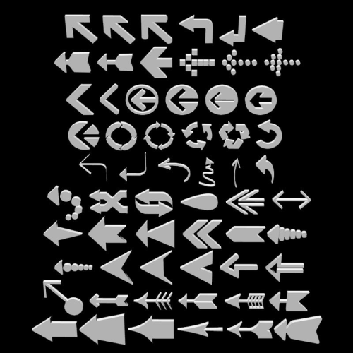 Second Additional product image for - ARROWS and POINTERS for Game Dev (BLEND, DAE, FBX, OBJ)