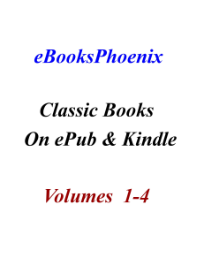 ebooksphoenix classic books on epub and kindle vol 1-4