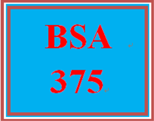 bsa 375 week 2 learning team: information gathering techniques
