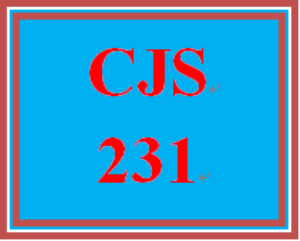 CJS 231 Entire Course | eBooks | Education