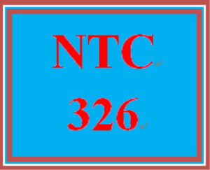 NTC 326 Week 1 Individual: Configuration Scenario | eBooks | Education